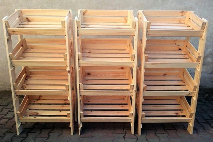 Ekspozytor drewniany